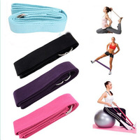 1pc/lot D-Ring Tension Yoga Belt Strap Stretching Equipment Waist Leg Exercise Fitness Figure 185*4cm 672600