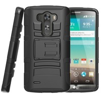 Free Shipping 10/lot for New LG G3 Case-Prime Series Dual Layer Holster Case with Kickstand and Locking Belt Swivel Clip