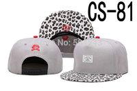 Cayler And Sons Snapback Cap CNS Gray Hat Leopard Print Brim CS-81
