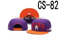 Cayler And Sons Snapback Cap ATLANTA Hat Purple with Orange CS-82
