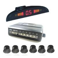 LED Parking Sensor Assistance Reverse Backup Radar Monitor System Car Reversing Radar 6 Probe+Voice Broadcast  LD-14