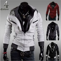 Mens Hoodies And Sweatshirts Sale Regular Fashion 2014 New Men's Korean Slim Zip Jacket / Hooded Sweater Double Zipper Cardigan