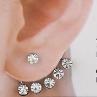 wholesale punk stud earring  12pcs/lot