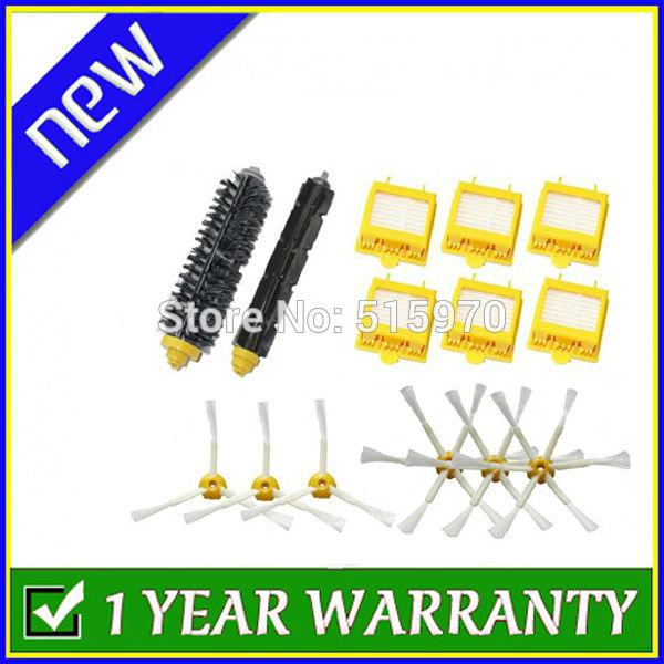 Hepa Filters & Bristle Brush & Flexible Beater Brush & 3-Armed 6-Armed Side Brush Pack Set for iRobot Roomba 700 Series 760 770(China (Mainland))