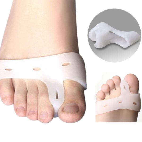 frete grátis: silicone gel pés dedos separador de dedos polegar protetor