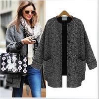 NALULA New Fashion Women Coat Women's Nine Point Sleeves Knit Cardigan Sweater Jacket For Women Outwear Female AS1370