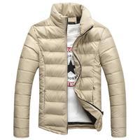 Men's Winter New Fashion Korean Stand Collar Long Sleeve Bodycon Parkas.