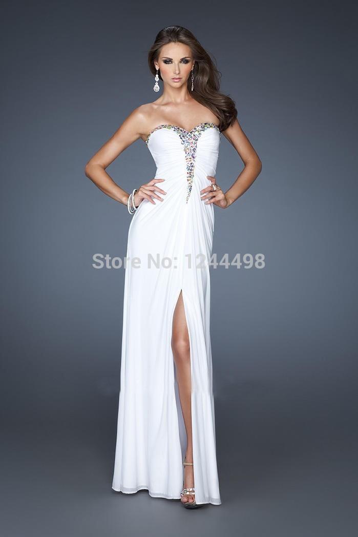 Unique White Prom Dresses Black White Prom Dresses