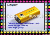 travel power charger 6600mAh Portable Power bank Charger PB002P