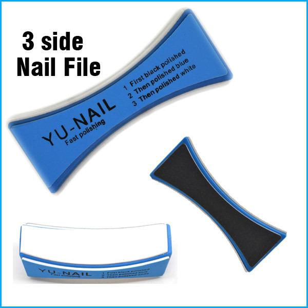5PCS/LOT Sponge Nail Art Buffer Block 4 Way Nail File Fast Polishing Burnishing Stick(China (Mainland))