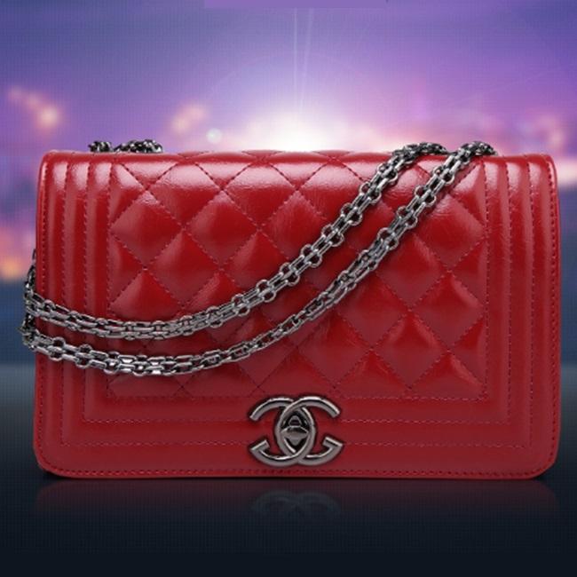 2014 Fashion Chain Women Handbags Women Messenger Bags C Mark Grid Women Leather Single Shoulder Bag 5 Color Free Shipping(China (Mainland))