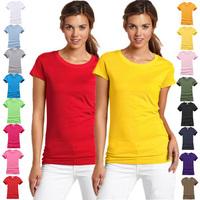 Free Shipping Summer ladies cotton short sleeve t-shirt solid color shirt girls Women t-shirt tops tees for women G109