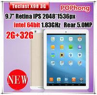 9.7''2048*1536 Android Tablet 32GB Quad Core Intel Bay Trail T 3735D Single Card Teclast X98 3G