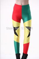 YWNN New Arrival Fashion 3D Print GhanaFlag Girl Legging High Elastic Slimming Mention Hip Plus size  Lady Leggings