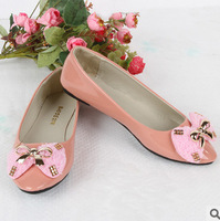 #874 Women Butterfly Ballet Flats Closed Toe Shoes Girls Round Toe Shoe Slip-on Casual Shoe