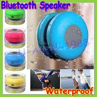 Gift idea Portable waterproof Wireless Bluetooth shower Speaker with mic mini loudspeakers music car speakers+ Free shipping