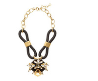 Free Shipping /J-C-J/  Corded statement necklace