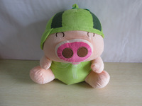 2014 new Sell like hot cakes fruit McDull pig stuffed toys Plush doll pig eight color free shipping