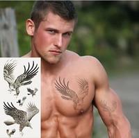 free shipping Temporary tattoo body art mirs The eagle waist arm  tattoo Waterproof tattoo man women tattoo