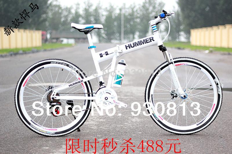 26 hummer mountain bike folding mtb variable speed drive disc cross country mountain bike(China (Mainland))