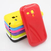 Hot Sale ! New Fashion TPU Soft Gel Skin Back Case Cover ForSamsung mini i8190 Galaxy S3 III -- Free shipping