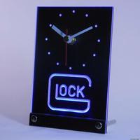 tnc0184 Glock Firearms 3D LED Table Desk Clock