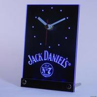 tnc0485 Jack Daniels Whiskey 3D LED Table Desk Clock
