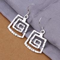 2015 fashion girls silver earrings,925 sterling silver earrings for elegant women party , wholesale best Christmas gifts CE344