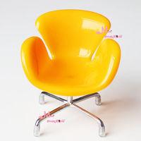 1/6 BJD Dolls Flower Dinning Room Furniture Toy Chair Swivel Chair 6 colourMonster high BJD Doll accessories