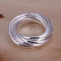 Wholesale!  New Hotsale Plated 925 silver nine Circle  fashion  Ring