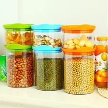 3201 frete grátis tanque de armazenamento frasco de armazenamento de vedação alimentos lanches transparente vasilha de plástico grandes pequenas 2 garrafas 3 cores(China (Mainland))