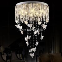 Luxury Modern Chandelier K9 Crystal Ceiling Lamp 110-240v Restaurant Lighting Lustre Home Decoration Free shipping PL422