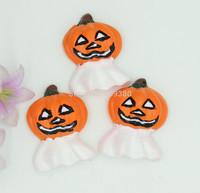 30pcs/lot, Flat back resin Halloween  present  for hair &cell phone deceration- Halloween