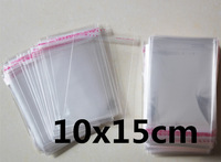 500 PCS 10x15cm 10*15cm Packaging Self Adhesive bags Plastic OPP Clear Pack Jewelry Gift Bag Cookie Bag Poly Bag OEM Size