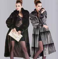 Faux fur coat Fur mink coat women long section XXL 3XL 4XL fur coat winter women / wdx706