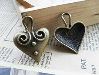 10pcs bronze peach alloy charms bracelet necklace pendant diy decoration cabochon steam punk jewelry accessories