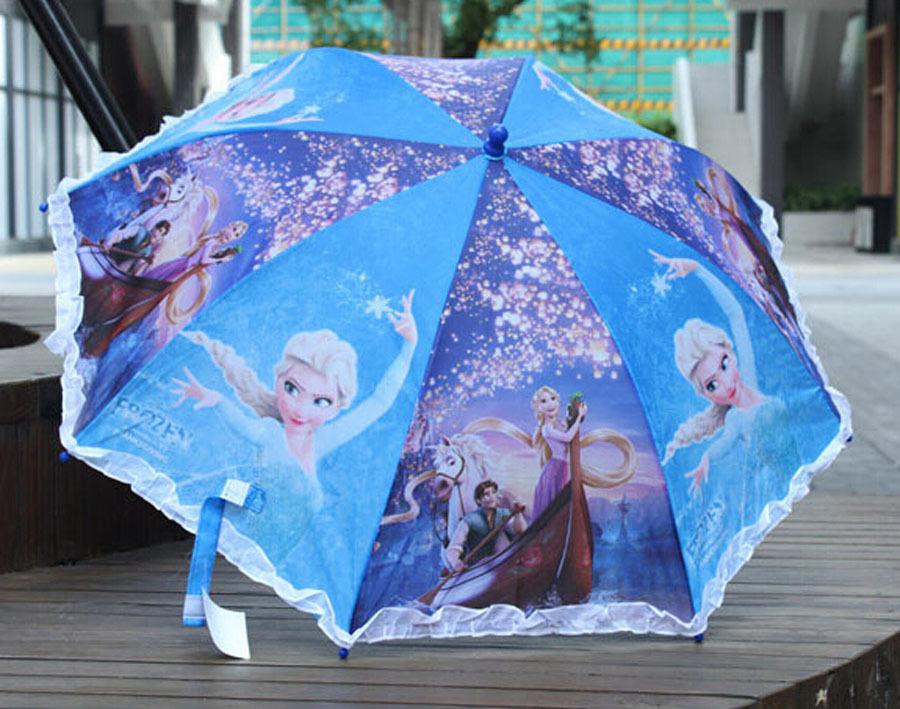 1X foldable CARTOON frozen Tangled PRINCESS children Kids Umbrella Whistle gift X39(China (Mainland))