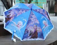 1X foldable CARTOON frozen Tangled PRINCESS children Kids Umbrella Whistle gift X39