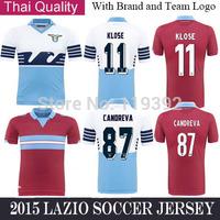 Stefan DE VRIJ LULIC KLOSE Jersey Lazio 14/15 home Soccer Jerseys Thai Quality Lazio Jersey Short Free Shipping Customized Name