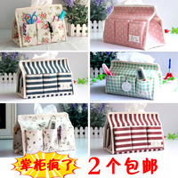 Creative fashion cotton fabric tissue box multifunction Desktop Storage drive tray with six bags Tissue case bedding sets