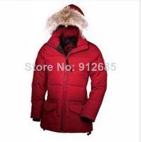 Ladies goose solaris parka down jacket winter trench coat free shipping