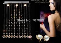 Free shipping!Modern led chandelier Fashion crystal ceiling lamp Rectangle dining room hanging light 110V 220V PL421