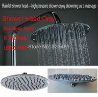Round 20cm Stainless Steel Water Saving Shower Head Rainfall For Bathroom dismountable Chuveiro ducha Hotels Chrome Plated