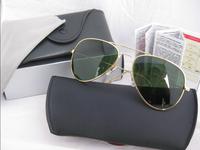 2014 New Fashion Men's Women's 3025 Band Polarized Sunglasses With Box Hot Selling aviator 3025 sunglasses