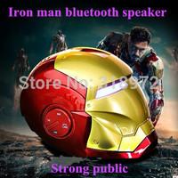 BIG Low Price Iron Man Bluetooth Speaker Mini HiFi Boombox Support Hands Free/TF Card /U-Disk,Retail Box 200pcs/lot