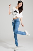 2014 spring jeans women's strap jeans loose jeans