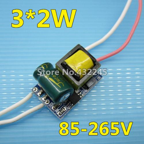 10pcs/lot. Led driver 2w 4w 6w 0.42a 420ma 3x2w costruito in alimentazione in corrente costante continua illuminazione trasformatore. Spedizione gratuita.