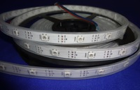 5m DC5V APA-104pixel srip,waterproof in silicon tube,30pcs APA104 LEDs/M with 30pixels;36W;white pcb;4pin