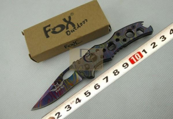 FOX X12 Full Stainless Steel Handle 440 Blade 55HRC Dazzle Colour Utility Mini Folding Knife Pocket knife Gentleman knife(China (Mainland))