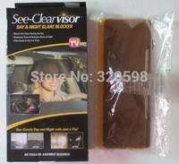 Free Shipping 48pcs/lot Easy View HD Day and night and visor Night vision goggles anti-dazzle mirror  Car Sun Visor